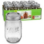 Caja 12 Frascos Mason Ball USA - 16oz.